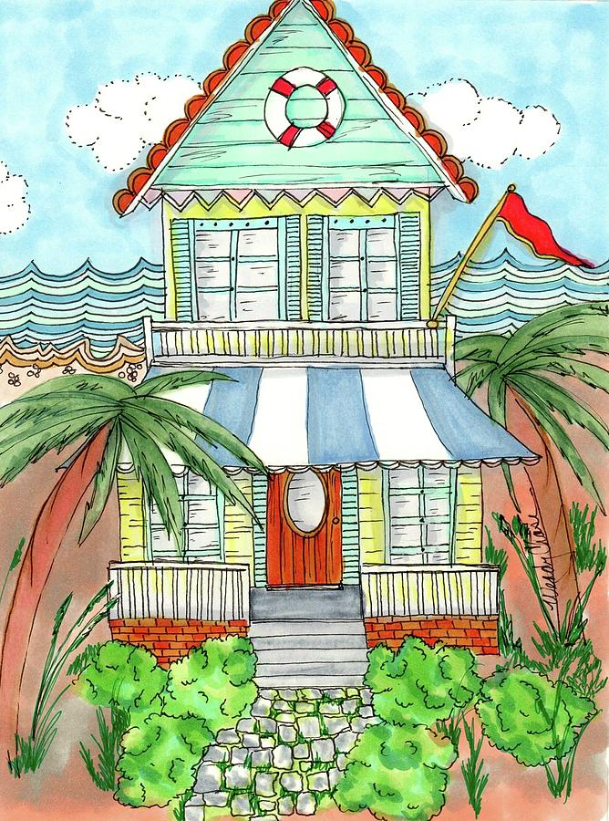 Beach House Drawing By Wendy Chase