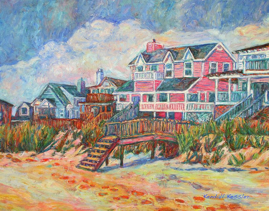 Beach Houses at Pawleys Island by Kendall Kessler