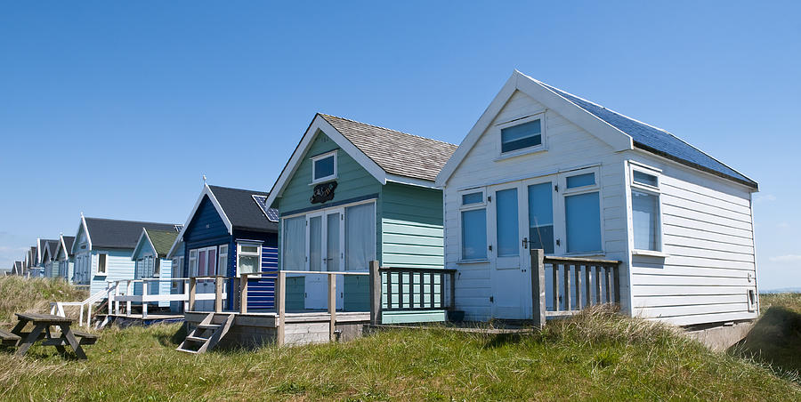Beach Hut Row by Mick House