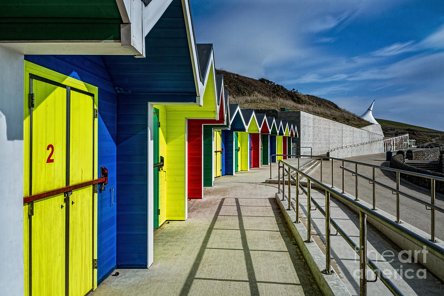 Beach Huts At Barry Island Photograph