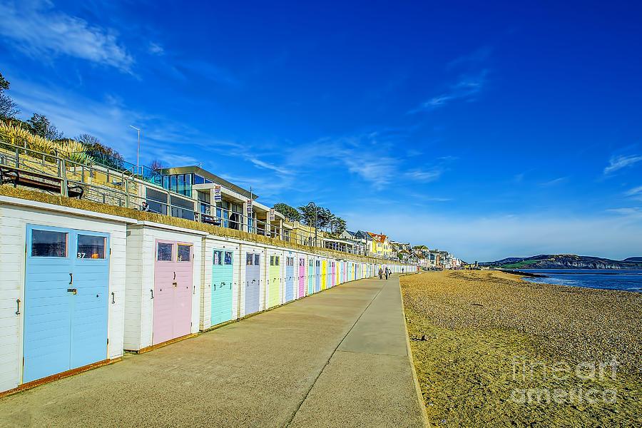 Beach Huts At Lyme Regis Photograph