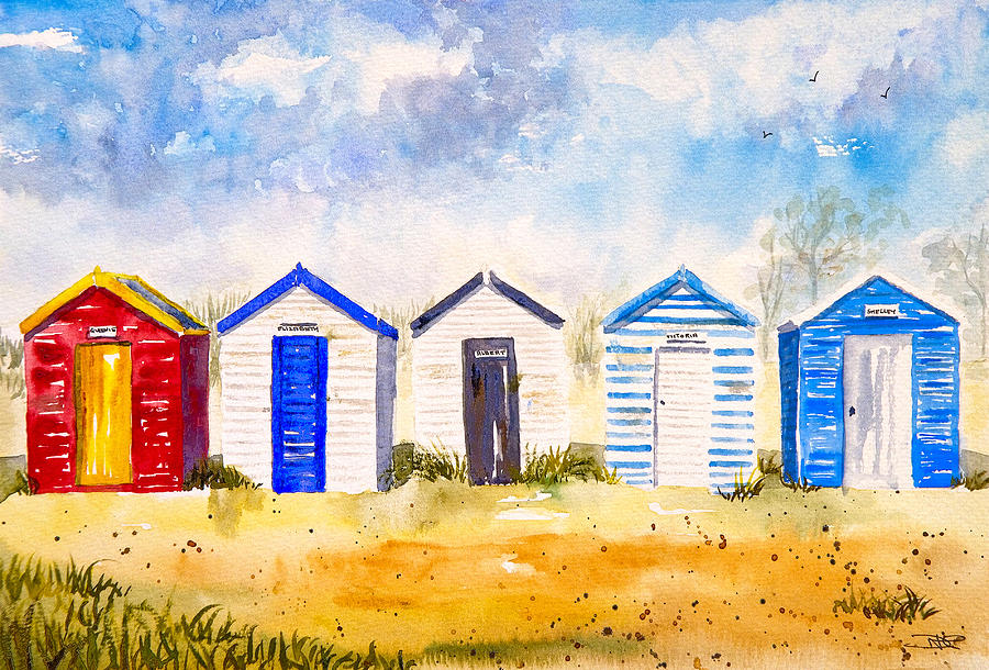 Architecture Painting Beach Huts At Southwold By A Portrait Of Europe