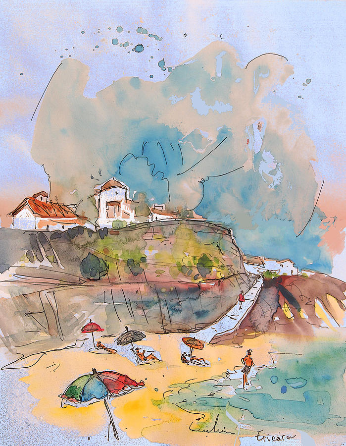 Portugal Art Painting - Beach In Ericeira In Portugal by Miki De Goodaboom