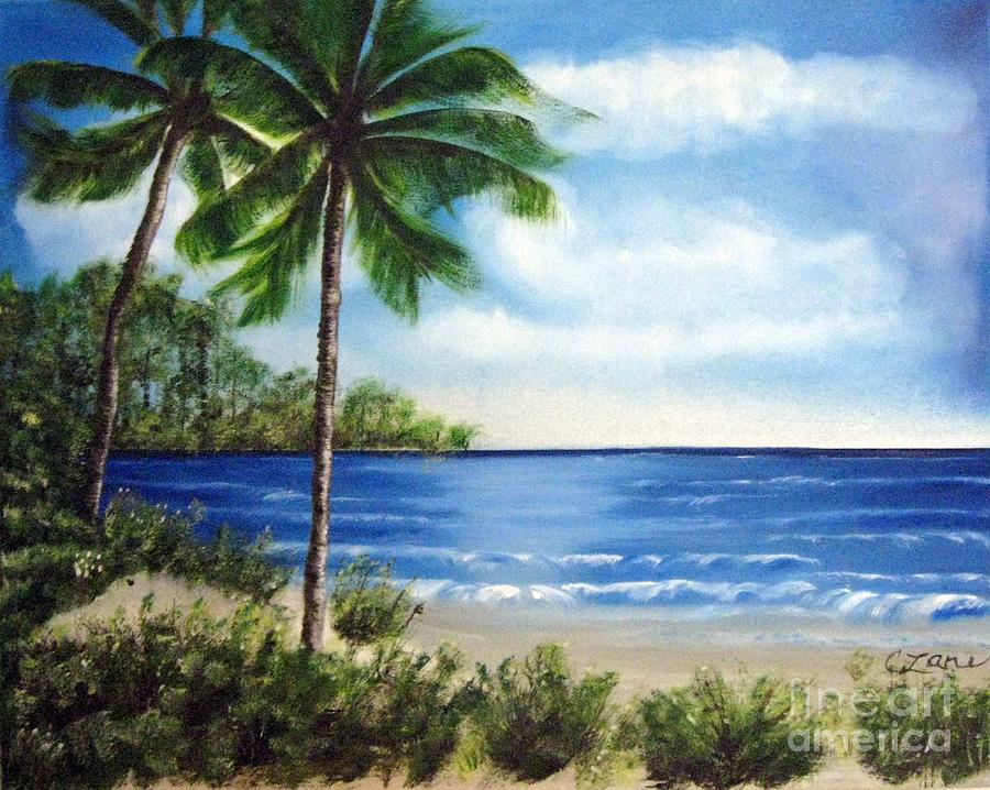 Beach In Mexico Landscape Painting By Cindi Lane