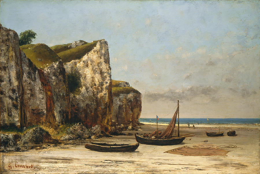 Gustave Courbet Painting - Beach in Normandy by Gustave Courbet