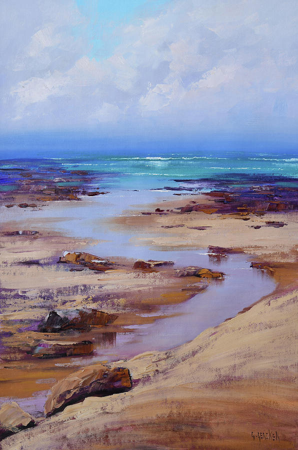 Beach Inlet Painting