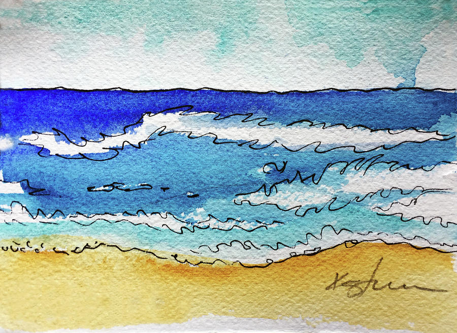 Beach Painting - Beach by Kathy Sturr