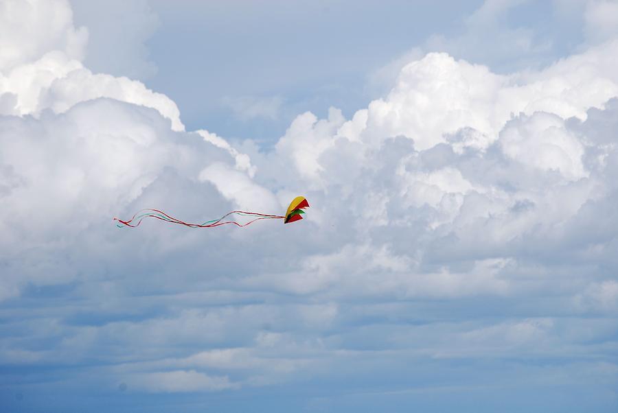 Kite Photograph - Beach Kite by Peter  McIntosh