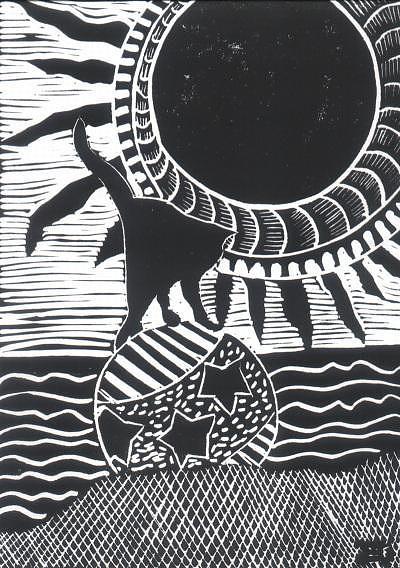 Sun Relief - Beach Kitty by Jane Croteau