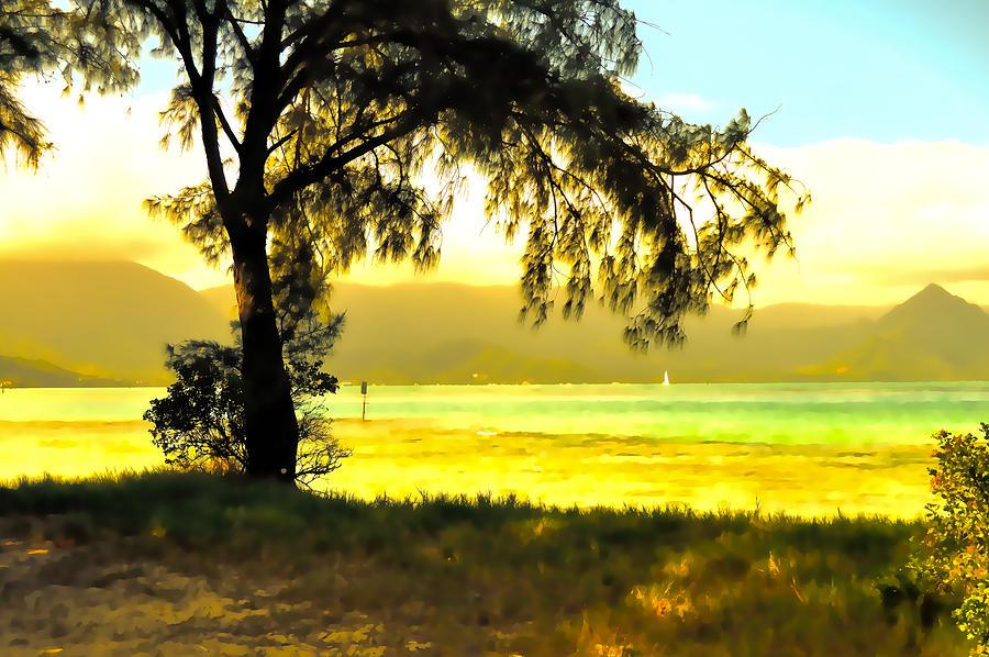 Beach Photograph - Beach Landscape 10 In Abstract by Kristalin Davis