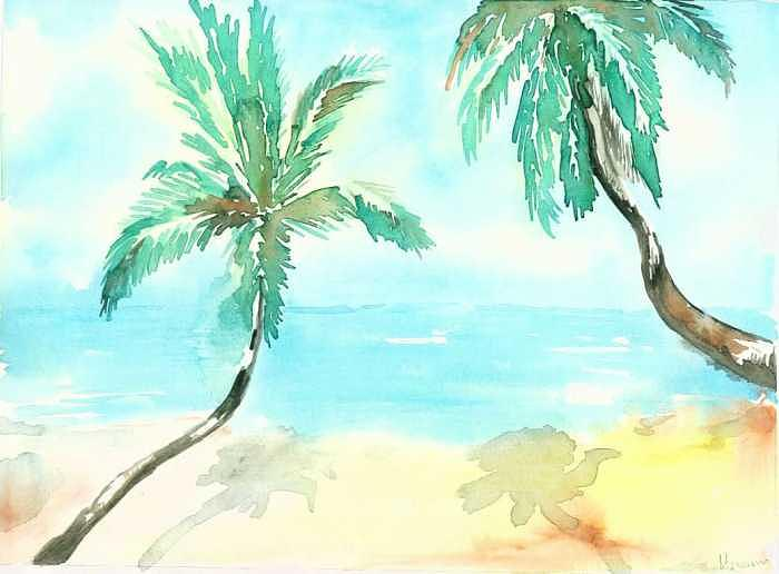 Beach Painting - Beach by Mousumi Mani