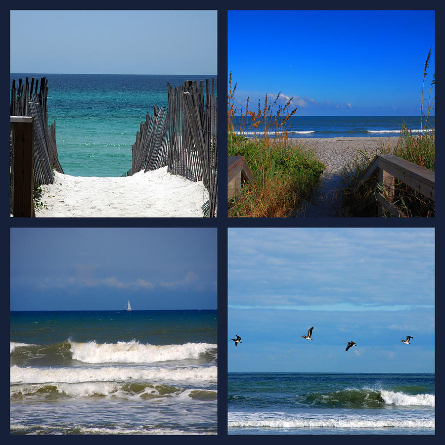 Beach Photograph - Beach Multiples by Susanne Van Hulst