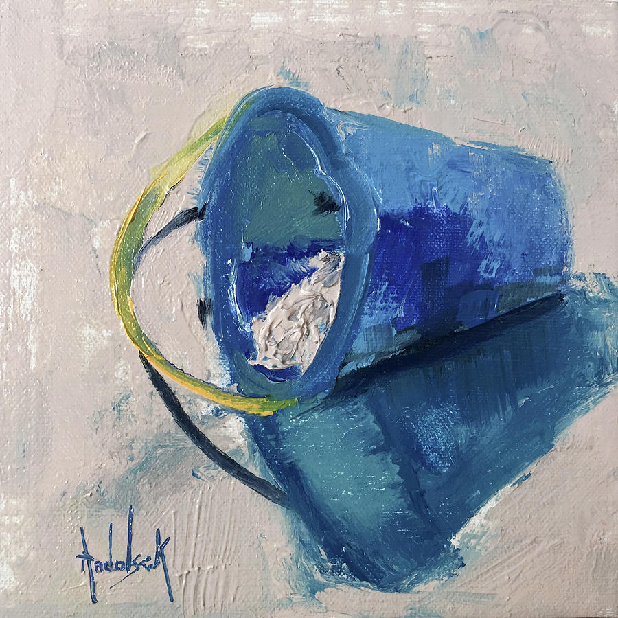 Beach Painting - Beach Pail Pal by Barbara Andolsek