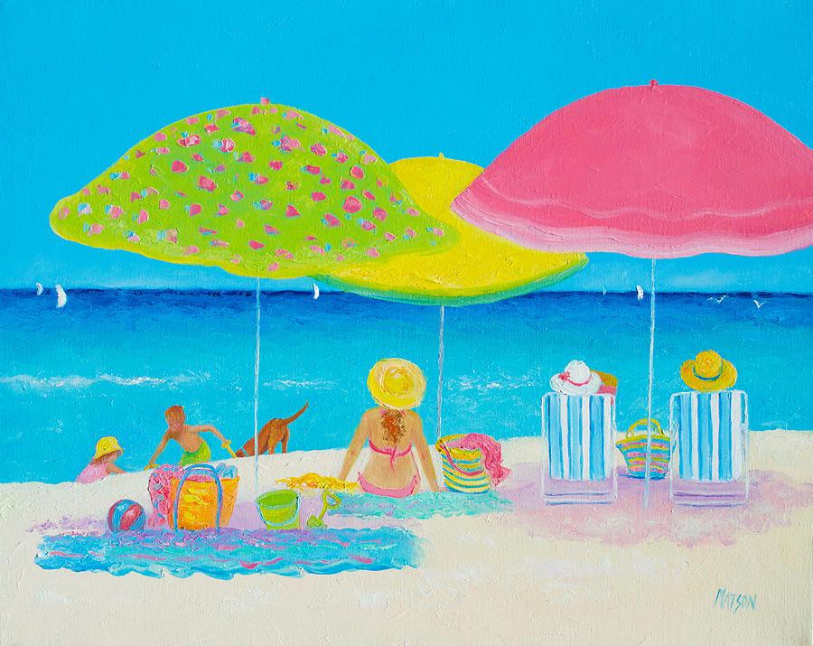 Beach Painting - Beach Painting - Beach Life by Jan Matson