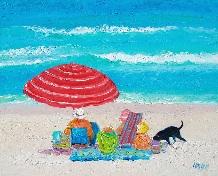 Beach Painting - Beach Painting - One Summer by Jan Matson