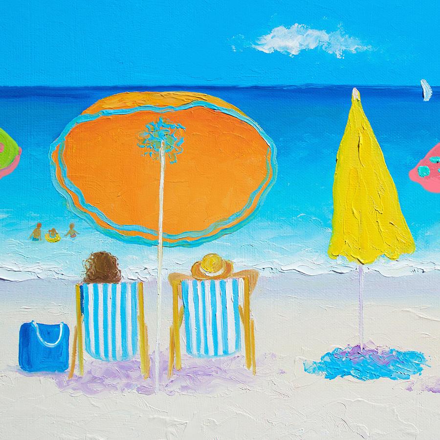 Beach Painting - Sun filled days by Jan Matson