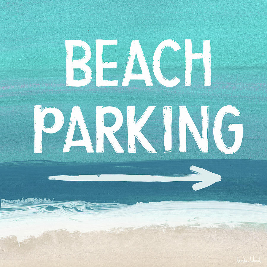 Beach Life Mixed Media - Beach Parking- Art By Linda Woods by Linda Woods
