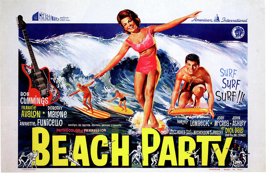 Beach Party Movie Poster Photograph By Artworld Images