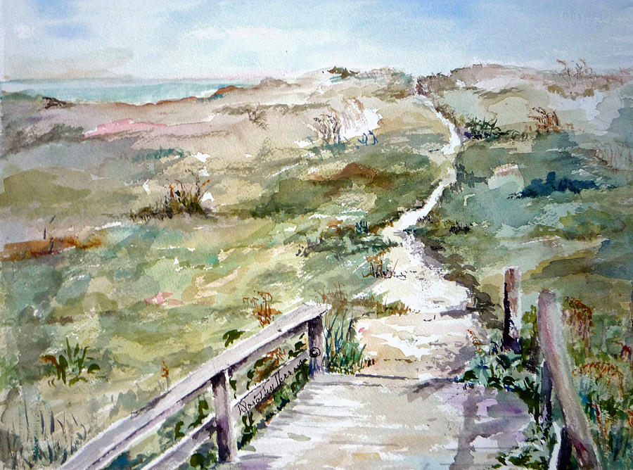 Beach Painting - Beach Path by Dorothy Herron