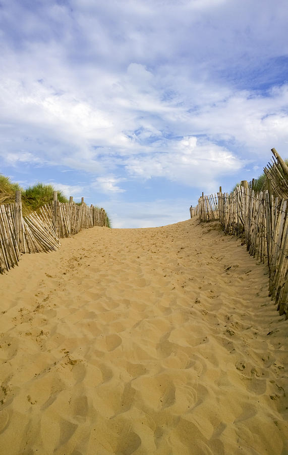 Beach Path Photograph - Beach Path To The Sea by Gillian Dernie