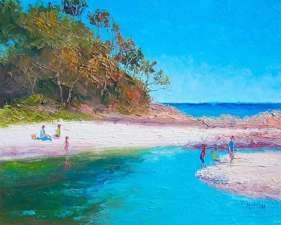 Beach Painting - Beach Picnic by Jan Matson