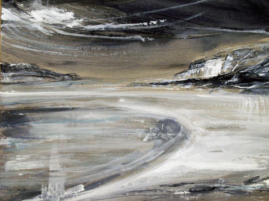 Watercolor Painting - Beach Pool by Keran Sunaski Gilmore