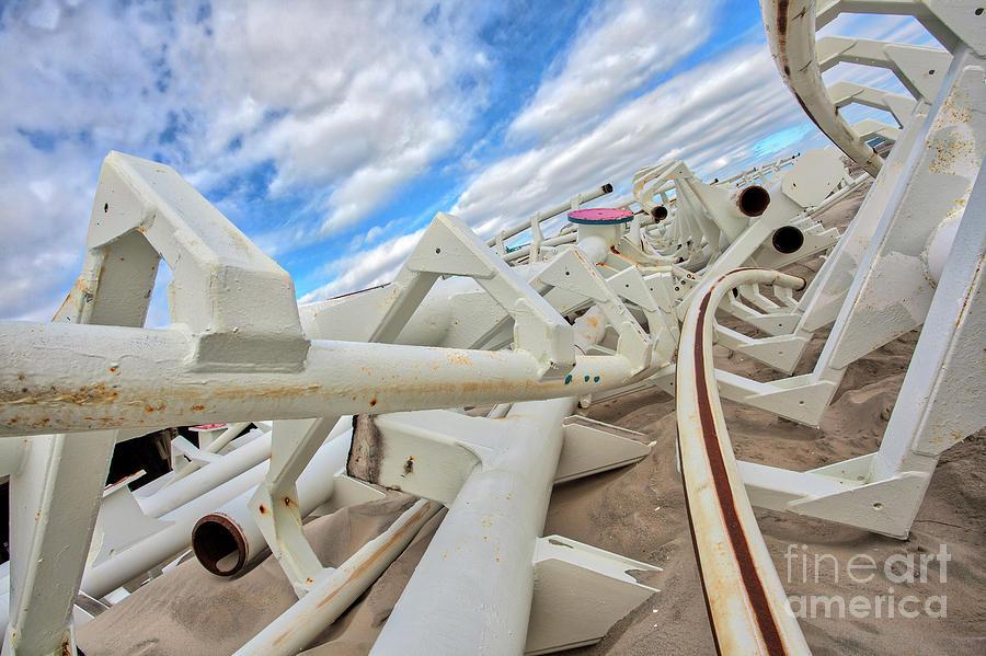 Beach Rails by Stephen McDowell