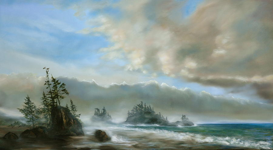 Ocean Painting - Beach by Richard Cole