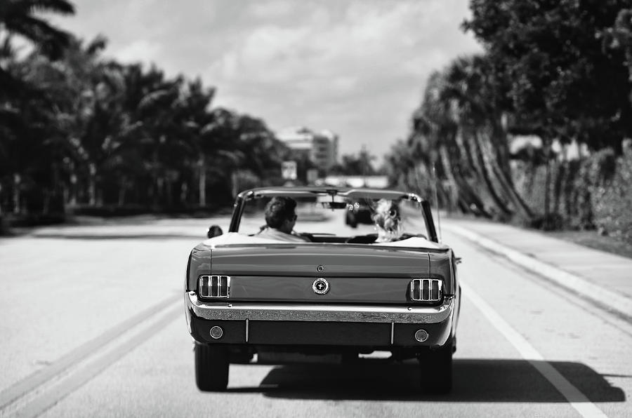 Beach Road  - 1965 Mustang  by Laura Fasulo