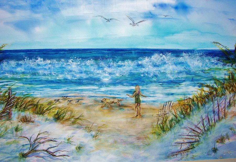 Beach Run Painting