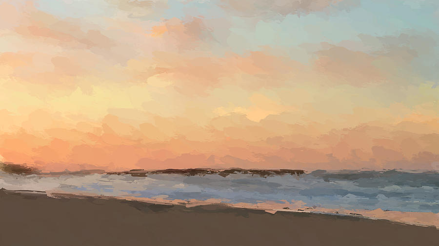 Beach Mixed Media - Beach Sand And Sun by Anthony Fishburne