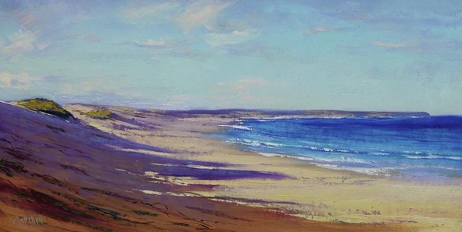 Beach Sand Shadows Painting