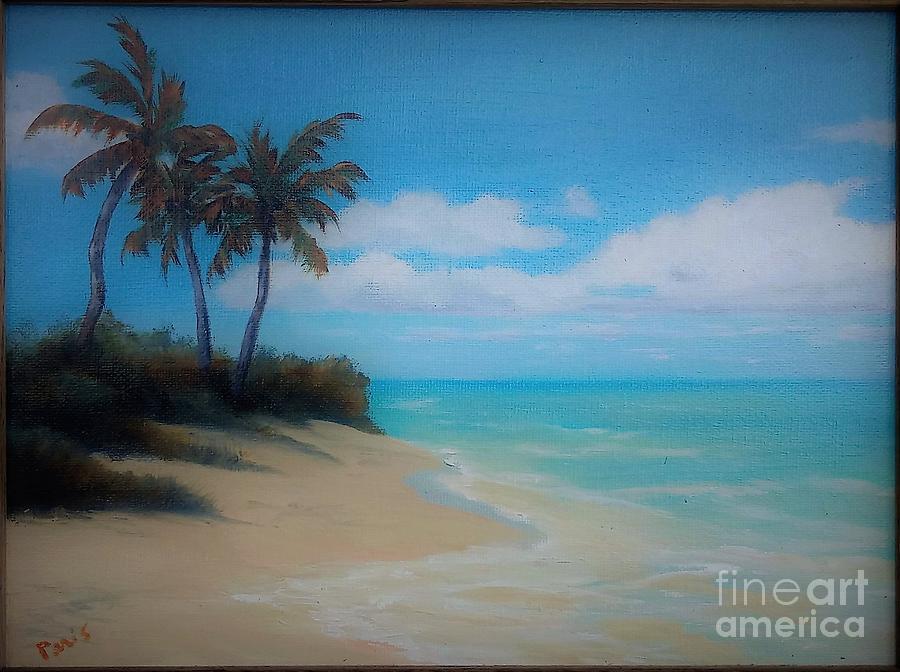 beach scene painting by paris milliken