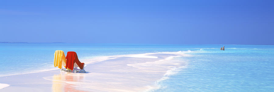 Color Image Photograph - Beach Scenic The Maldives by Panoramic Images