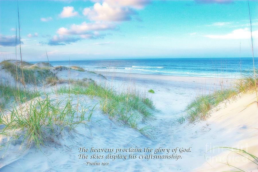Beach Scripture Verse Photograph by Randy Steele