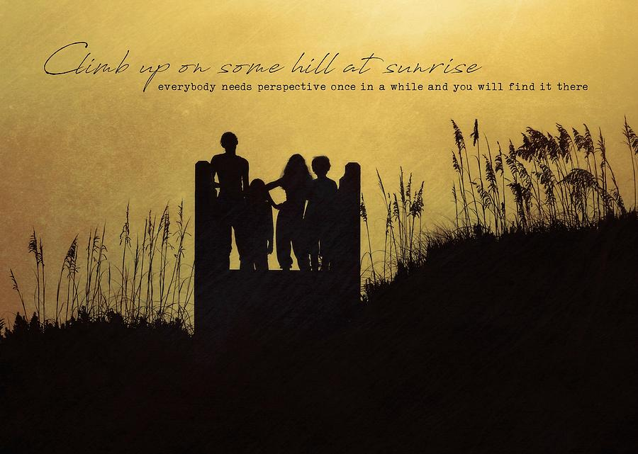 Beach Photograph - Beach Silhouette Quote by JAMART Photography