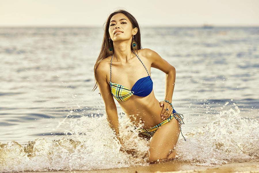 Beach Splash Photograph