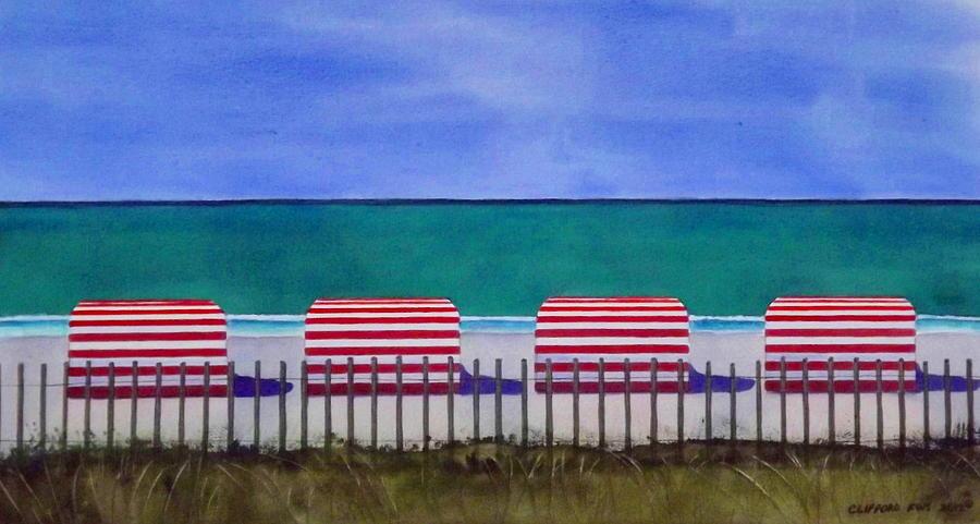 Beach Painting - Beach Stripes by Cory Clifford