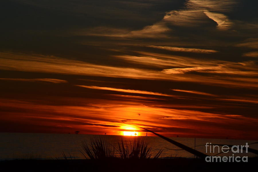 Beach Sunset Alabama Photograph by Tim Sevcik