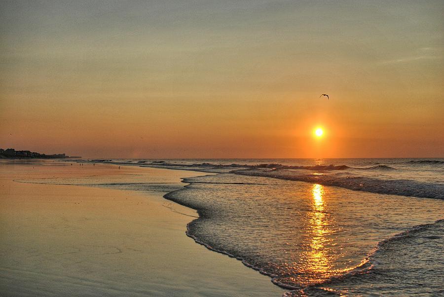 Topsail NC Beach Sunrise by Doug Ash