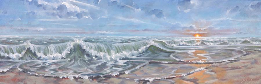 Beach Sunset by Gary M Long