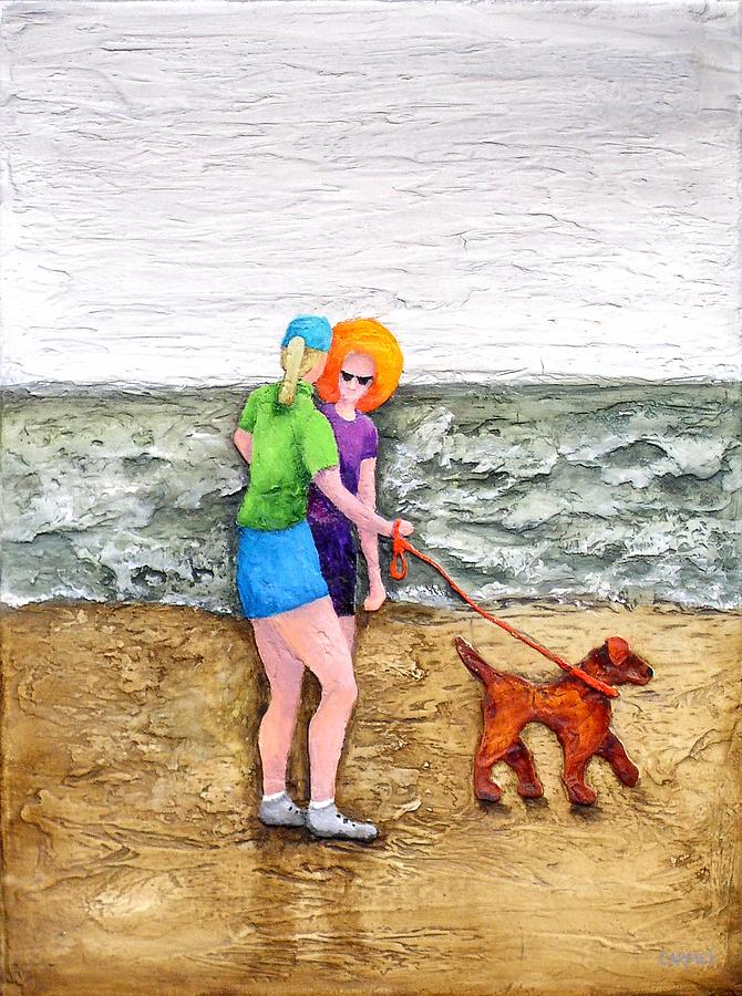 Beach Painting - Beach Talk by Linda Carmel