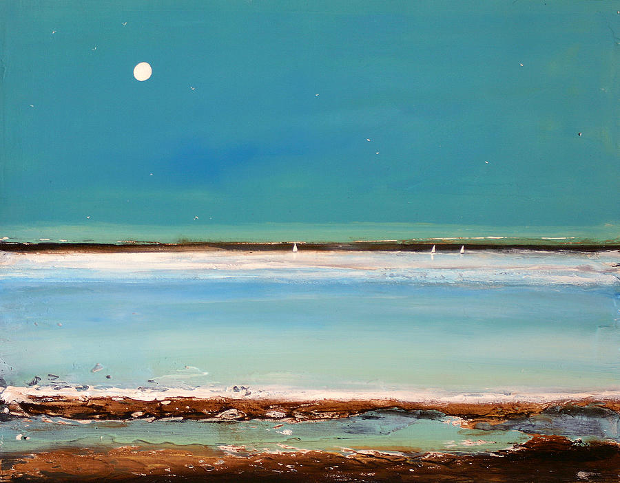 Landscape Painting - Beach Textures by Toni Grote
