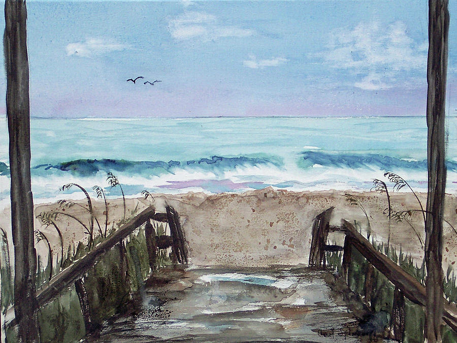 Beach Painting - Beach Time by Carol Sprovtsoff