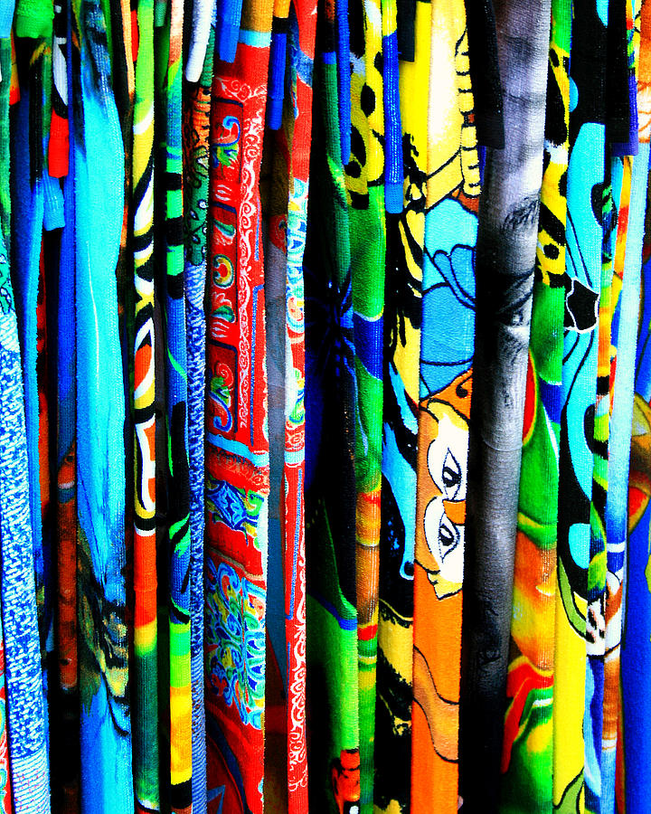 Beach Photograph - Beach Towels by Perry Webster
