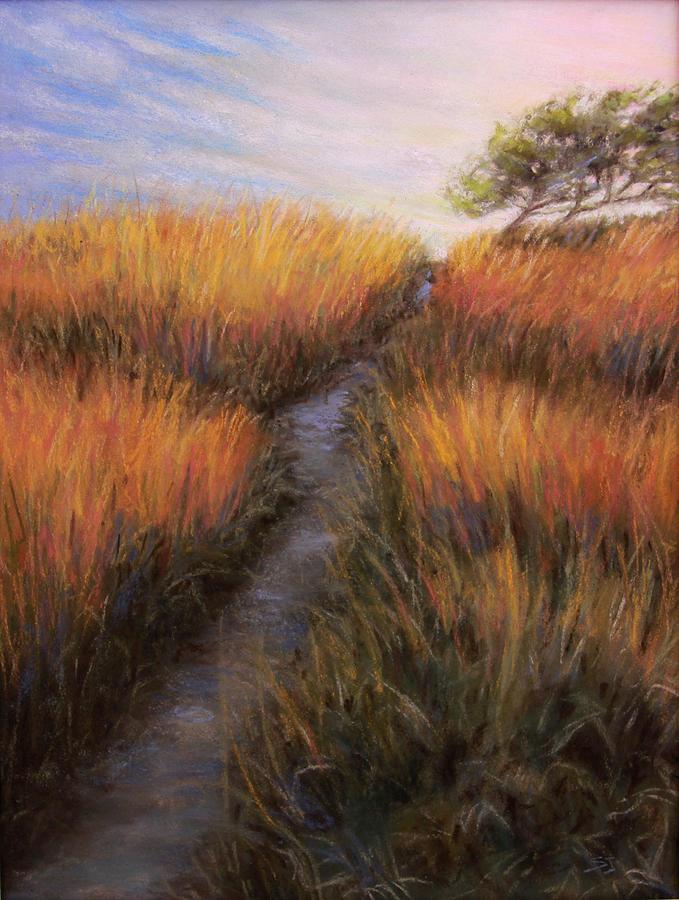 Landscape Painting - Beach Trail by Susan Jenkins