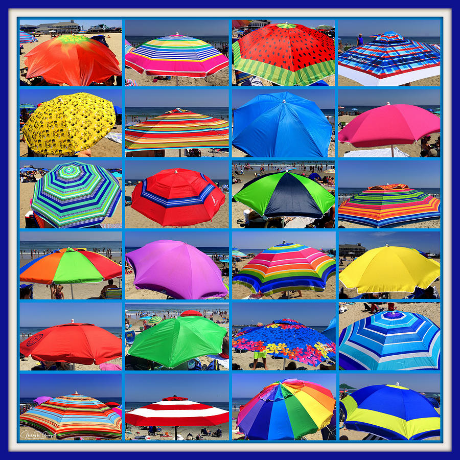 Umbrellas Photograph - Beach Umbrella Medley by Mitchell R Grosky