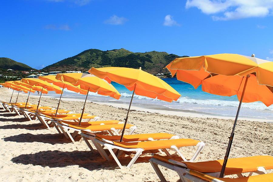 Beach Photograph Beach Umbrellas By Catie Canetti
