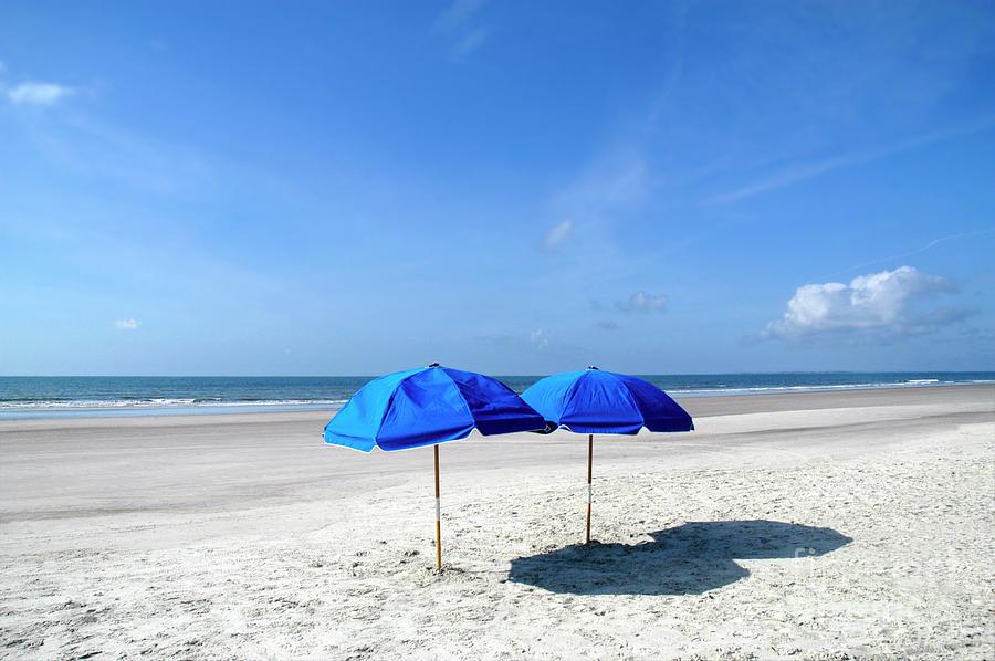 Beach Umbrella Photograph - Beach Umbrellas by Craig McCausland