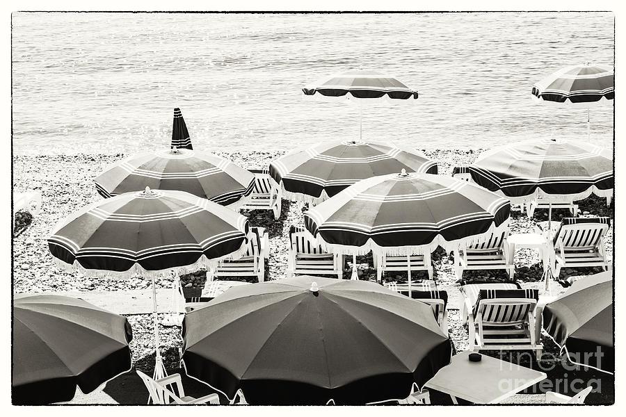 Beach Photograph - Beach Umbrellas In Nice by Elena Elisseeva